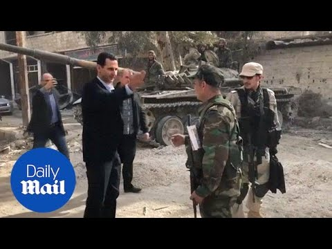 Syrian President Assad visits army positions in eastern Ghouta - Daily Mail
