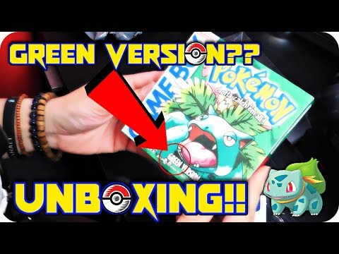 ORIGINAL 90's POKEMON ENGLISH GREEN VERSION?!  LET'S UNBOX!