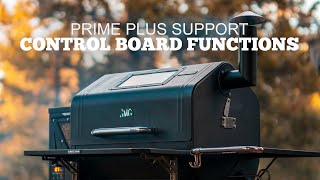 Control Board Functions  |  Prime Plus Support  |  Green Mountain Grills