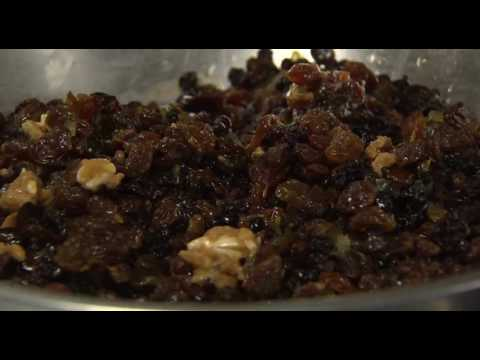 Boiled Christmas Pudding With Brandy Butter And Sauce