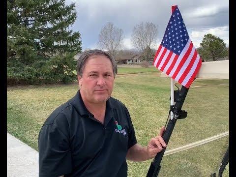 Golf Cart Flag Mount By Caddie Buddy (USA/Rules/Handicap Flags)