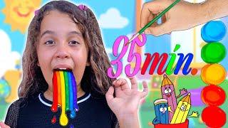 SARAH BRINCA EM UM VÍDEO DE 35 Min. PARA CRIANÇAS !! - Sarah de Araújo