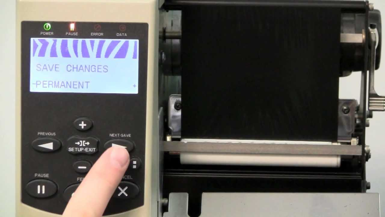 Zebra Xi4 Series Printer Manual Calibration Youtube