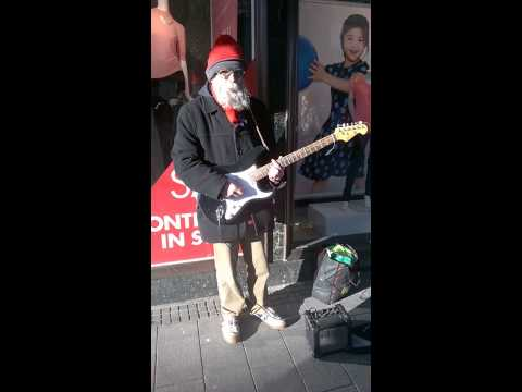 "One Man and his Beard - ""Don't be Fooled"" Busking on Chapel Street, Southport 31st Jan 2014"