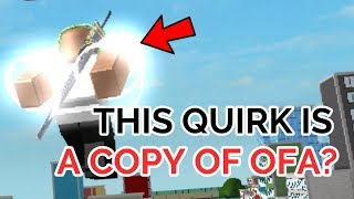 THIS QUIRK IS LIKE OFA! | Boku No Roblox: Remastered | ROBLOX