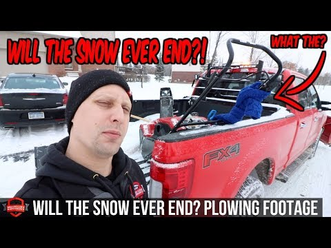 Endless Snow Storms And Out Plowing Snow!! This Is A Tough Winter  Snow Plowing Footage!
