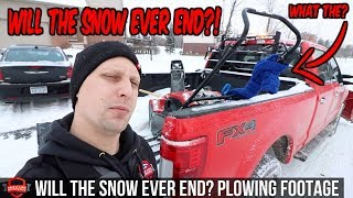 Endless Snow Storms And Out Plowing Snow!! This Is A Tough Winter | Snow Plowing Footage!