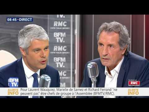 Laurent Wauquiez face à Jean-Jacques Bourdin  21 juin