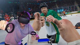 MY FIRST HOCKEY FIGHT?! *VIRTUAL REALITY*