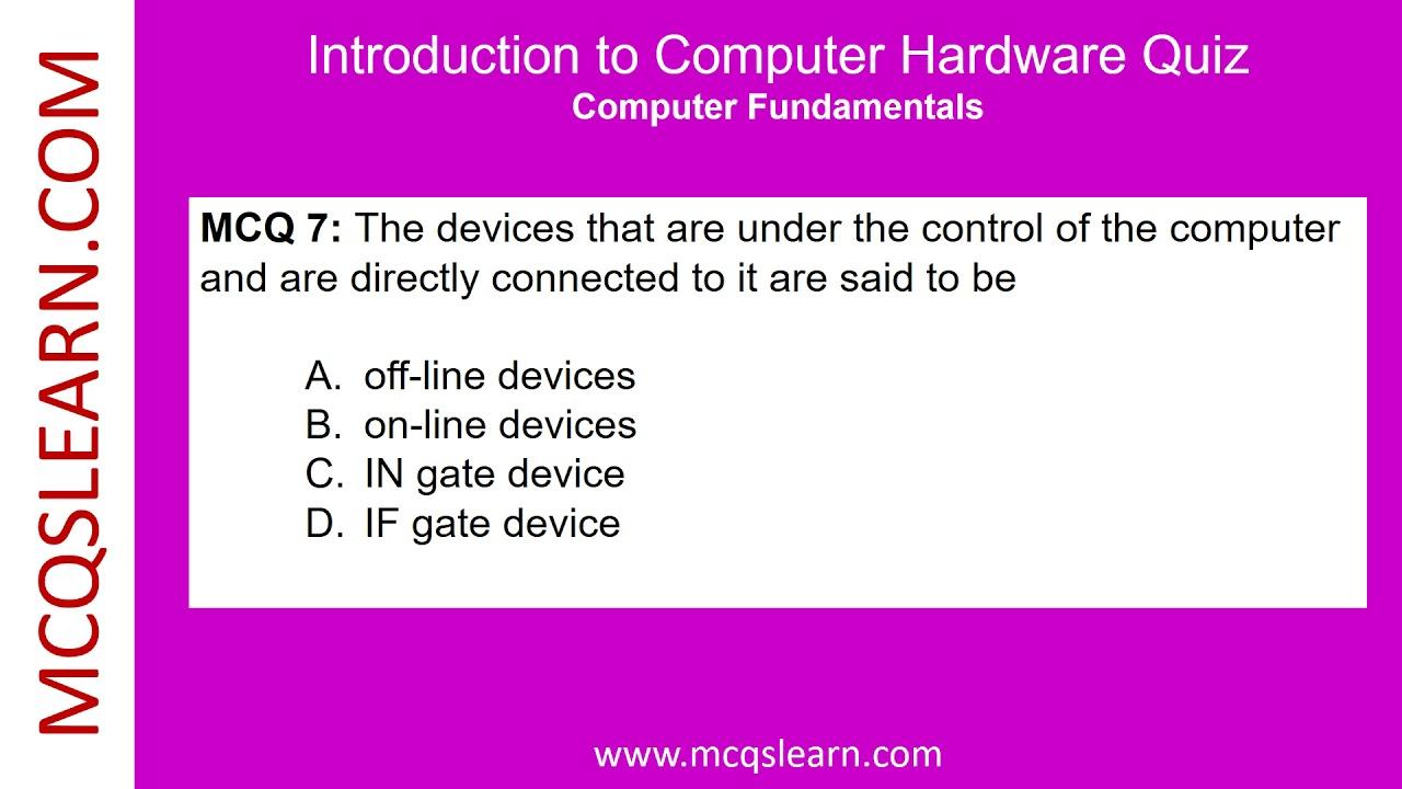 hardware quiz