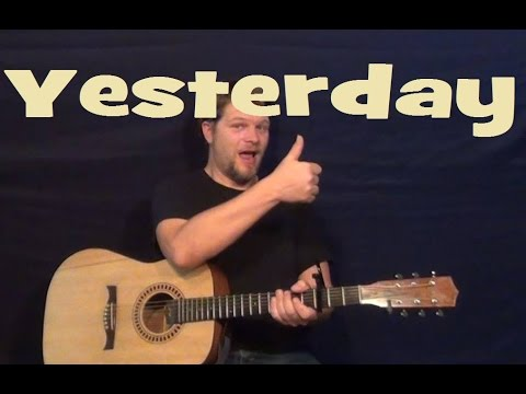 Yesterday (The Beatles) Easy Guitar Lesson How to Play Tutorial