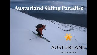 Austurland, East Iceland is a skiing paradise