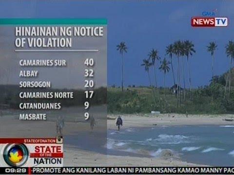 SONA: 127 beach resort sa Bicol Region, hinainan ng notice of violation