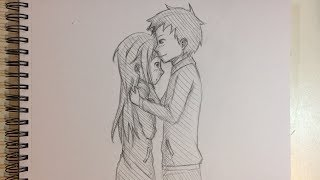 How to Draw Anime Couple Kissing [No Timelapse]