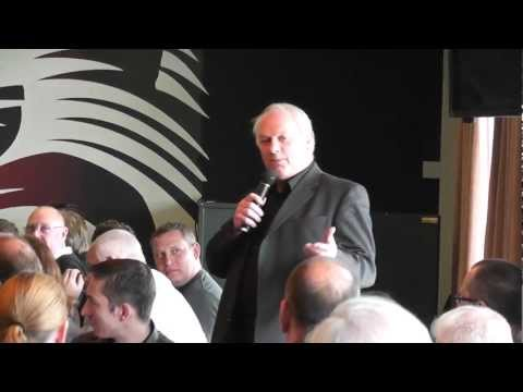 Jeff Probyn at A Lunch with a Lion - informative, funny, top class - the best of Rugby