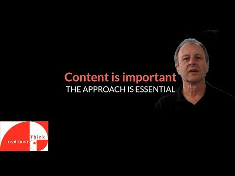 Content is important but the approach is essential