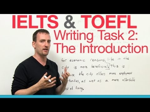 IELTS & TOEFL Writing Task 2 - The Introduction