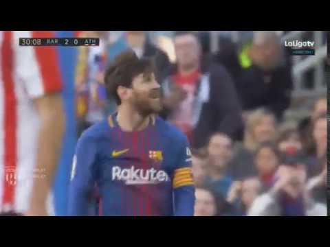 Leo Messi DANCE after scoring goal vs Athletic Club