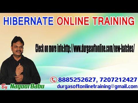 Demo on HIBERNATE online training in DURGASOFT by NAGOOR BABU!!!