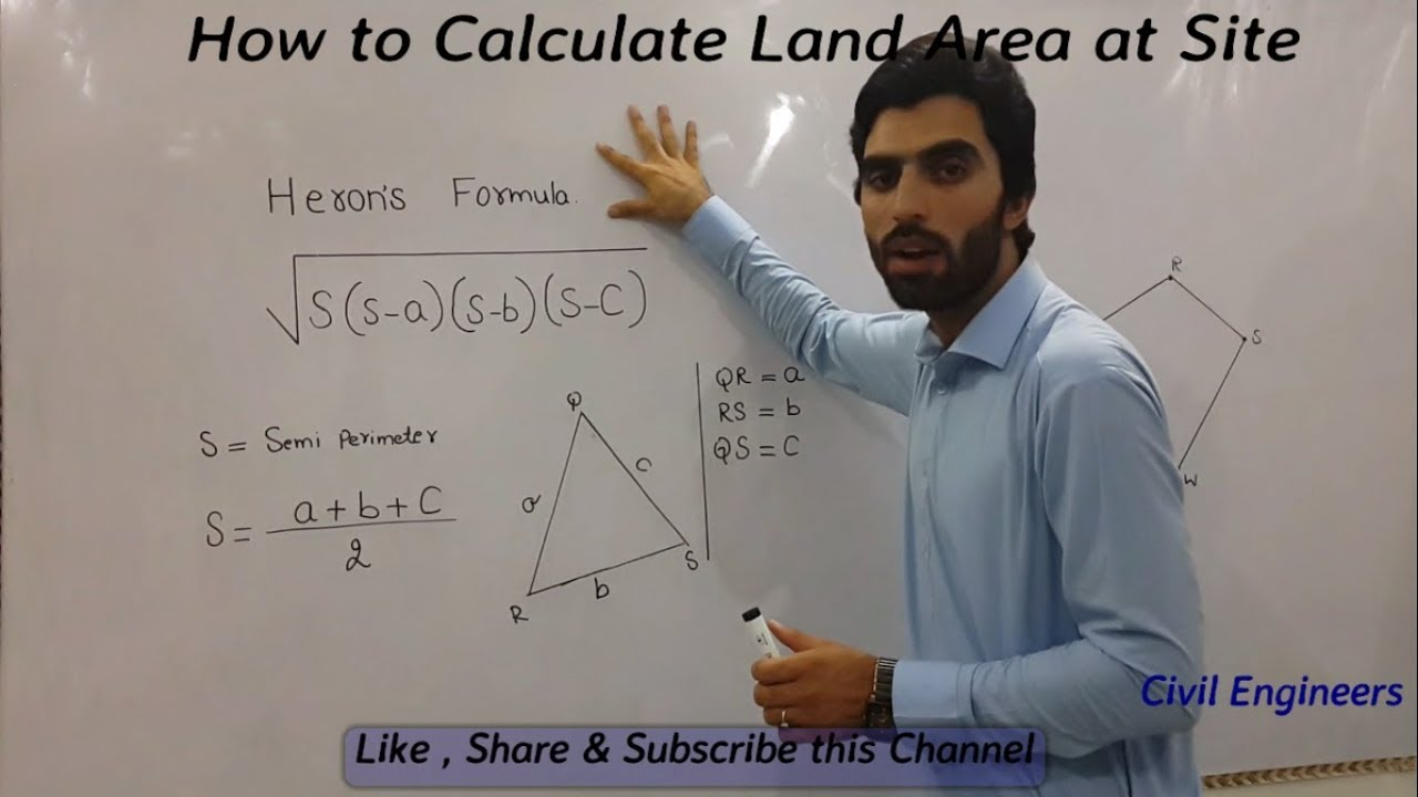 How to Calculate Land Area at Site