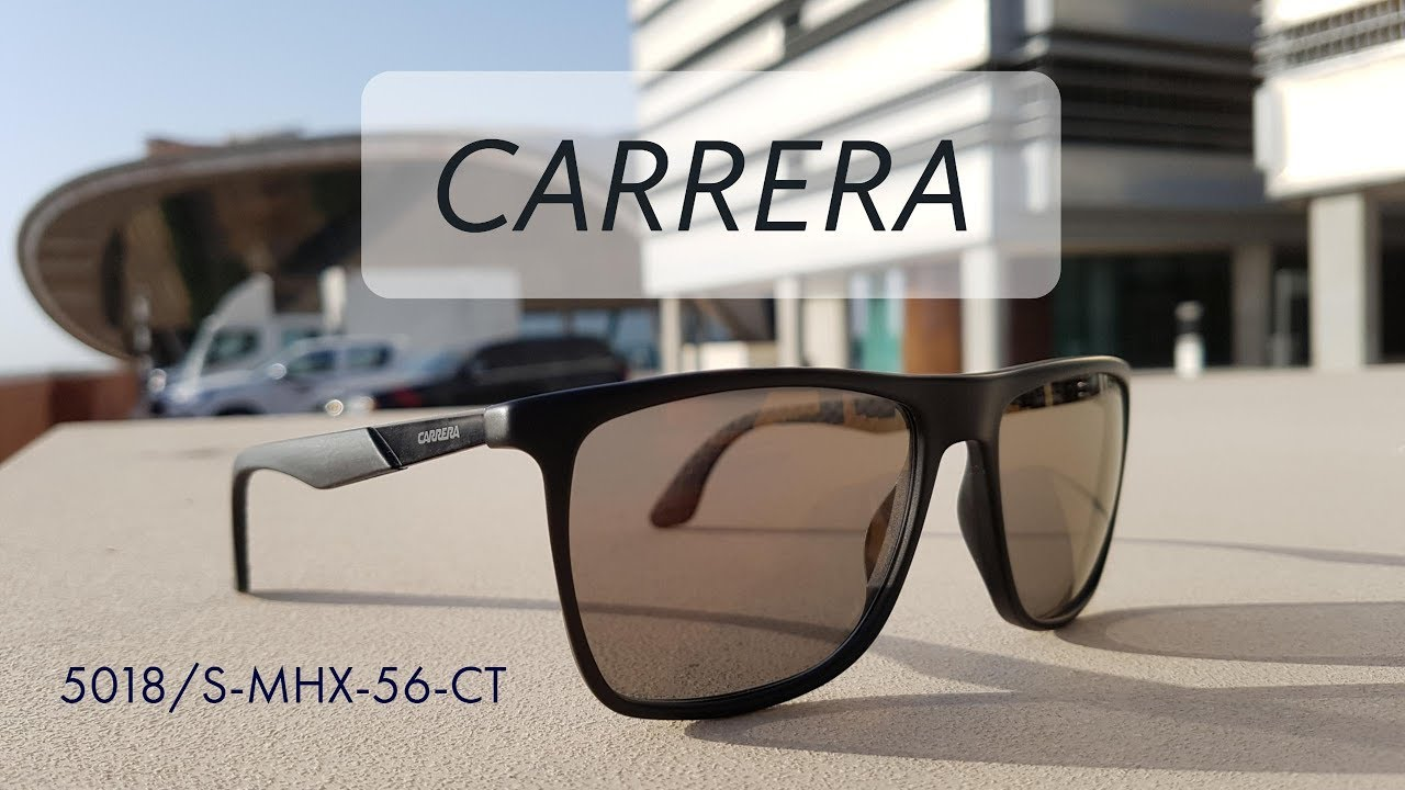 eecf2ee797 Carrera 5018/S-MHX-56-CT | Unboxing and Review of Original Carrera Square  Unisex Sunglasses ...