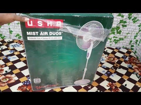 UshA mist air dous pedestal fan unboxing and assembling/usha fan review