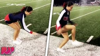 Cheerleader's 'Invisible Box' Stunt Is INSANE (Video)