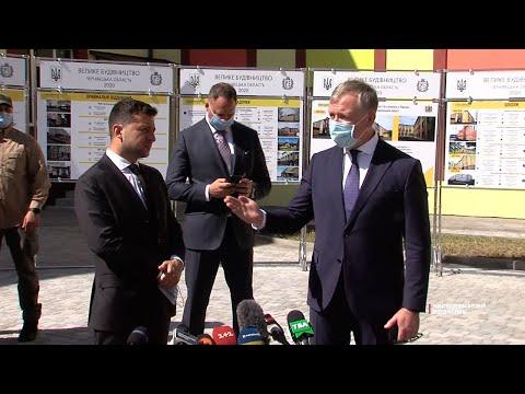Чернівецький Промінь: Побачив нову школу і зруйнований міст  - президент Зеленський побував на Новоселиччині