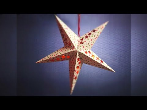 Christmas Star Making Step by Step | Paper Star Template | Christmas Decorations