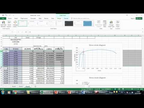 stress strain analysis on excel