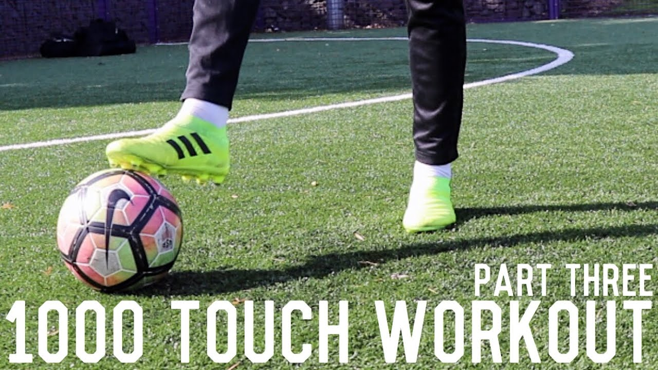 1000 Touch Workout Pt 3   Improve Passing and First Touch Without Equipment