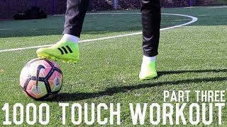 1000 Touch Workout Pt 3 | Improve Passing and First Touch Without Equipment