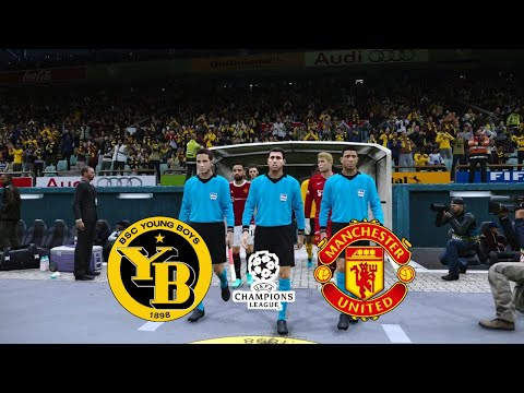 PES 2021 PATCH 2022 | BSC YOUNG BOYS VS MANCHESTER UNITED - CHAMPIONS LEAGUE 2022 | PES PC GAME |