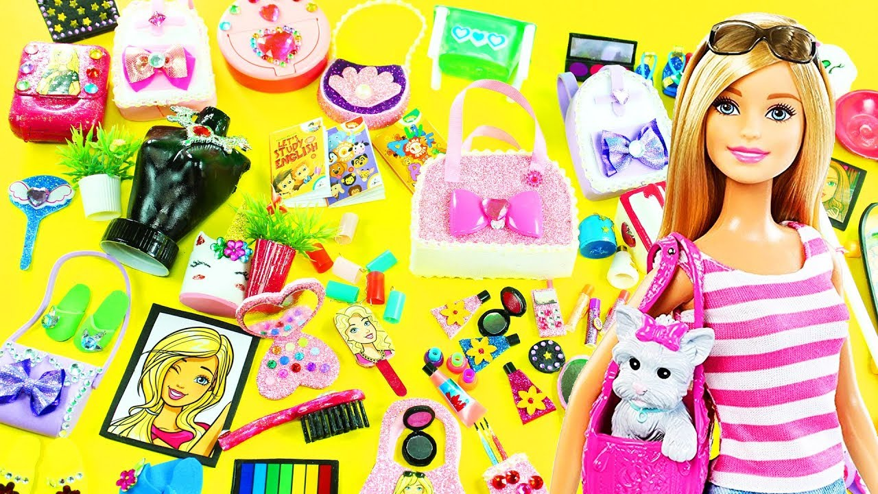 100 DIY MINIATURE BARBIE DOLLHOUSE ACCESSORIES & Lifehacks