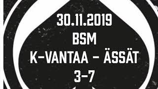 Juniori-Ässät - B1-joukkue - 30.11.2019 BSM Kiekko-Vantaa - Ässät Maalikooste
