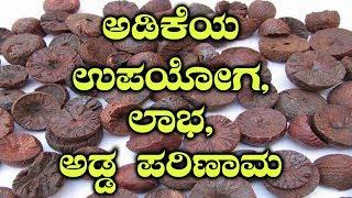 Uses, Benefits & Side Effects Of Betel Nuts | ಅಡಿಕೆ ಸೇವನೆಯಿಂದ ಸಿಗುವ ಲಾಭಗಳು ಮತ್ತು ಅಡ್ಡ ಪರಿಣಾಮಗಳು