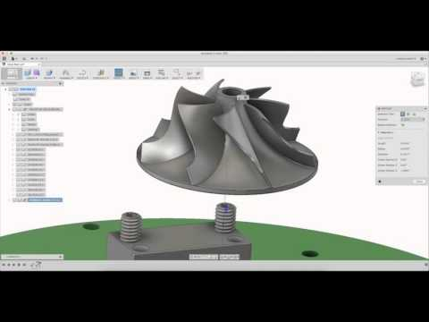 Pocket NC Impeller Part 1 - Fusion 360 Geometry