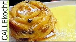 Leckerer Brotpudding mit Vanillesoße selber machen - Omas Rezept Ofenschlupfer