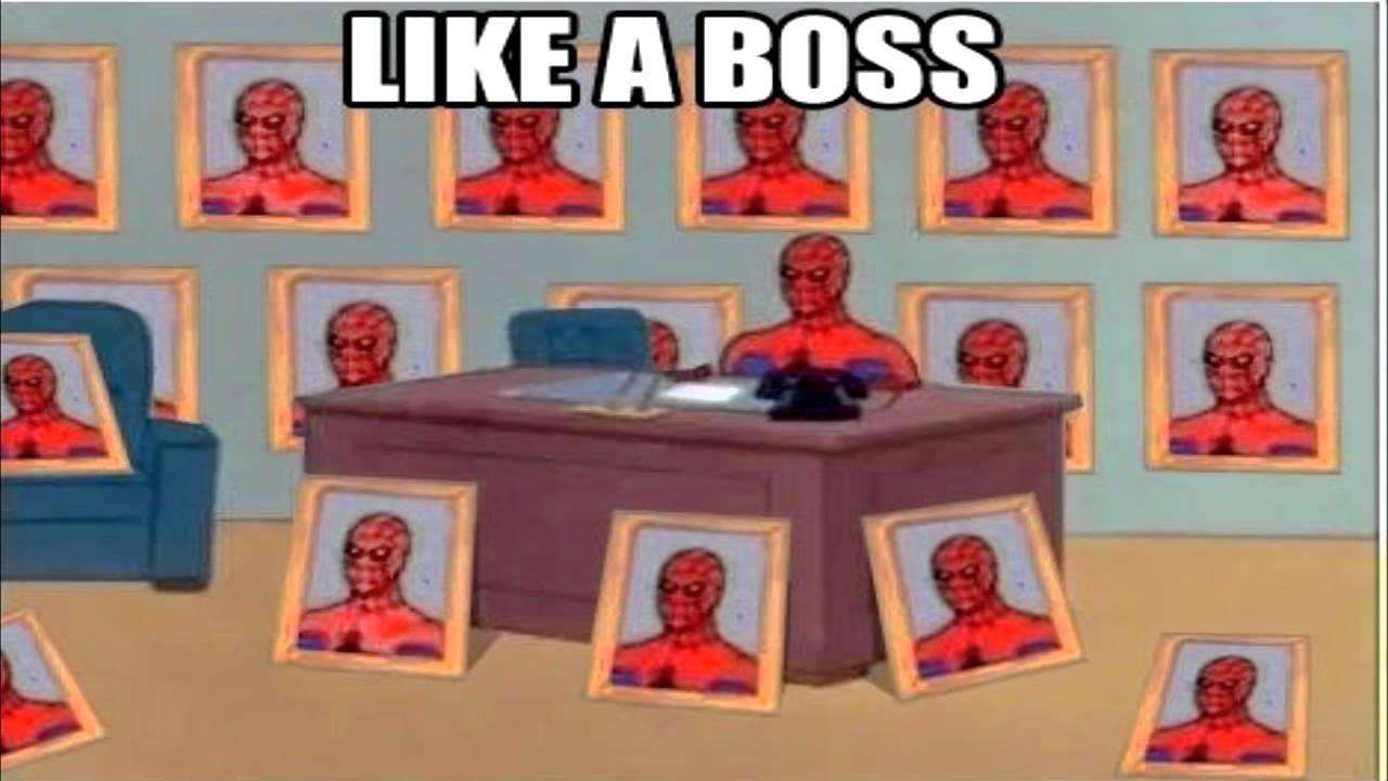 spiderman meme desk