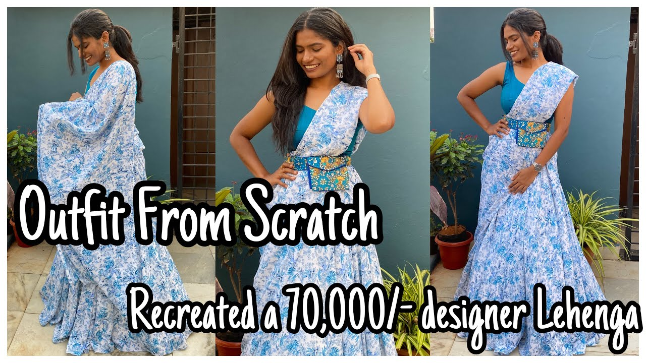 Outfit From Scratch | Samantha Inspired | Recreated a 70,000/- Designer Lehenga in 3820/- |nayalooks