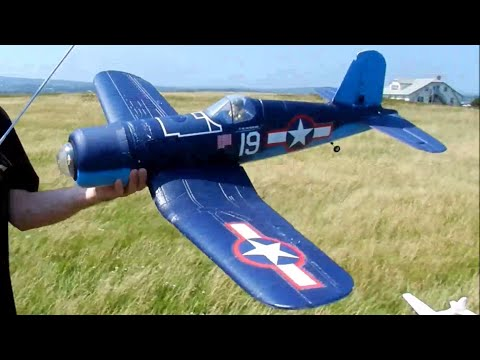 Repeat Slope Soaring - Parkzone Corsair (maiden flight) by
