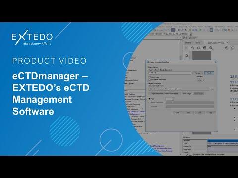 eCTD Publishing & eSubmission Software EXTEDO eCTDmanager