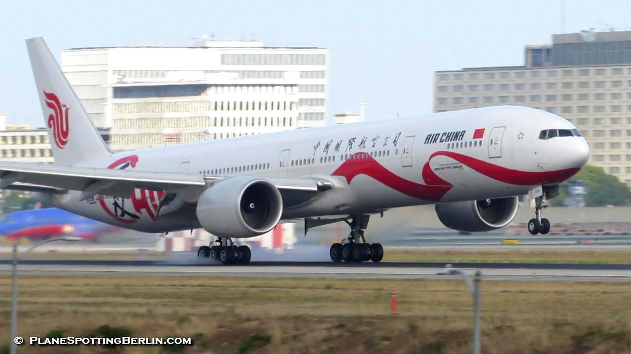 Love China Cs Air Boeing 777 300er B 2006 Landing At Los Angeles Lax Full Hd