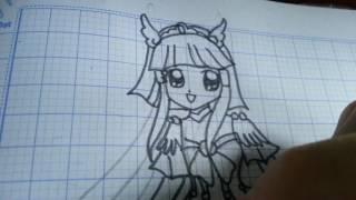 How to draw Cure Beauty from Smile Pretty Cure