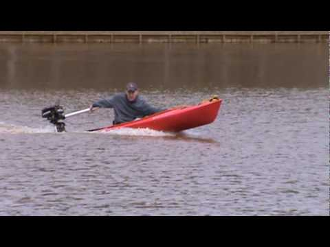 Kayak With Outboard Youtube
