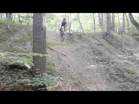 Going down the devil's drop in my woods