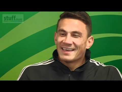 Ali and Sonny Bill Williams having fun during a press conference