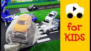 Police chase for Monster Truck - Toys Video for Kids