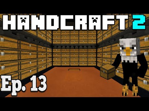 Hancraft 2 - Ep. 13 - | MASSIVE AUTOMATED STORAGE SYSTEM | - Minecraft PE /Bedrock Survival  1.2.11