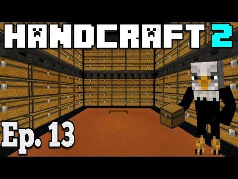 Hancraft 2 - Ep. 13 -   MASSIVE AUTOMATED STORAGE SYSTEM   - Minecraft PE /Bedrock Survival  1.2.11